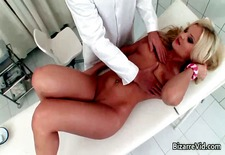 Hot blonde bitch comes to the doctor part6